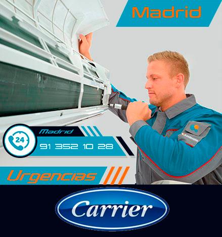 Reparación urgente de aire acondicionado Carrier en Madrid