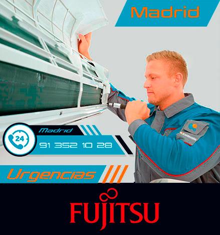 reparación urgente de aire acondicionado Fujitsu en Madrid