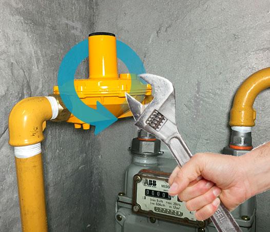 sustitución regulador de gas natural en Toledo