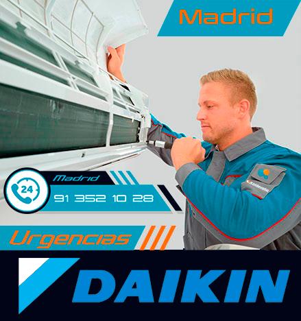 Reparación urgente de aire acondicionado Daikin en Madrid