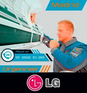reparación urgente de aire acondicionado LG en Madrid