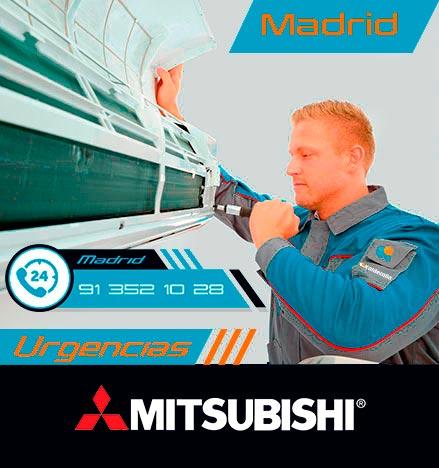 reparación urgente de aire acondicionado Mitsubishi en Madrid